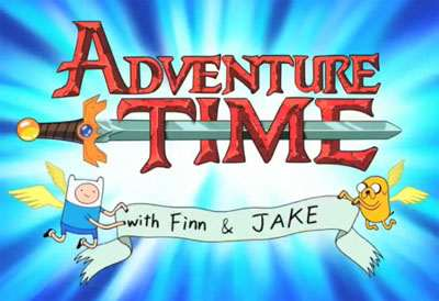 <i>Adventure Time With Finn &amp; Jake Television</i> Series Title Card