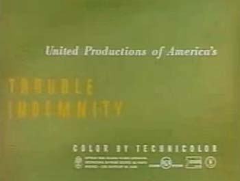 'Trouble Indemnity' Title Card