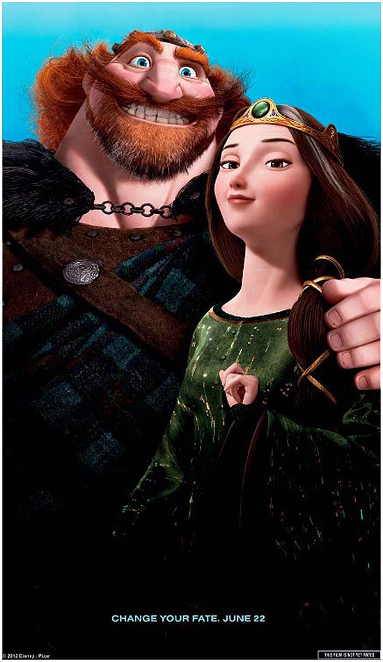 King Fergus & Queen Elinor Character Poster