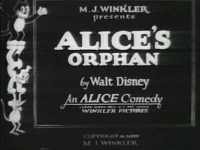 'Alice's Ornery Orphan' Reissue Title Card