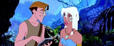 Milo Thatch and Princess Kidagakash