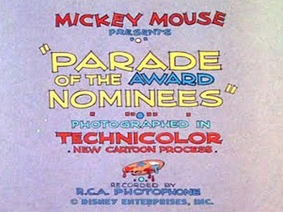 Parade Of The Award Nominees Title Card