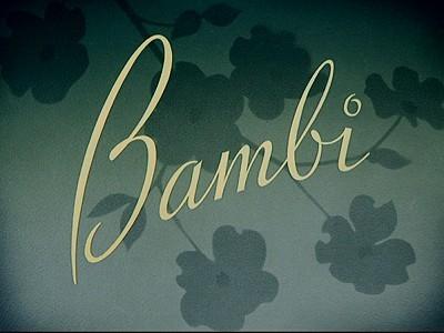 <i>Bambi</i> Title Card
