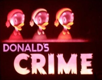 <i>Donald's Crime</i> Title Card