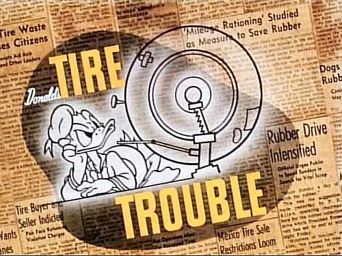 <i>Donald's Tire Trouble</i> Title Card