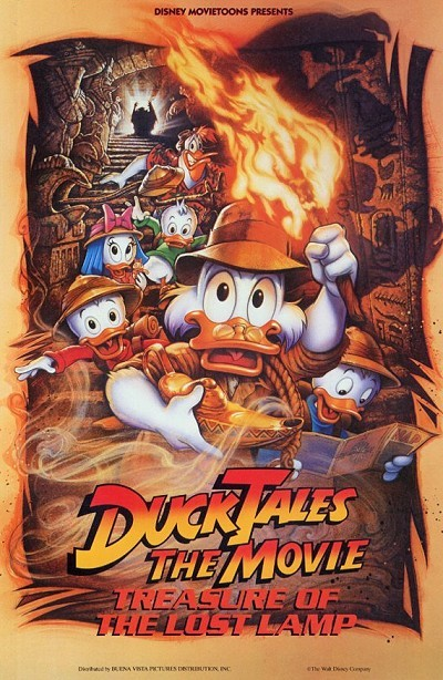 'DuckTales The Movie: Treasure Of The Lost Lamp' Original Release Poster