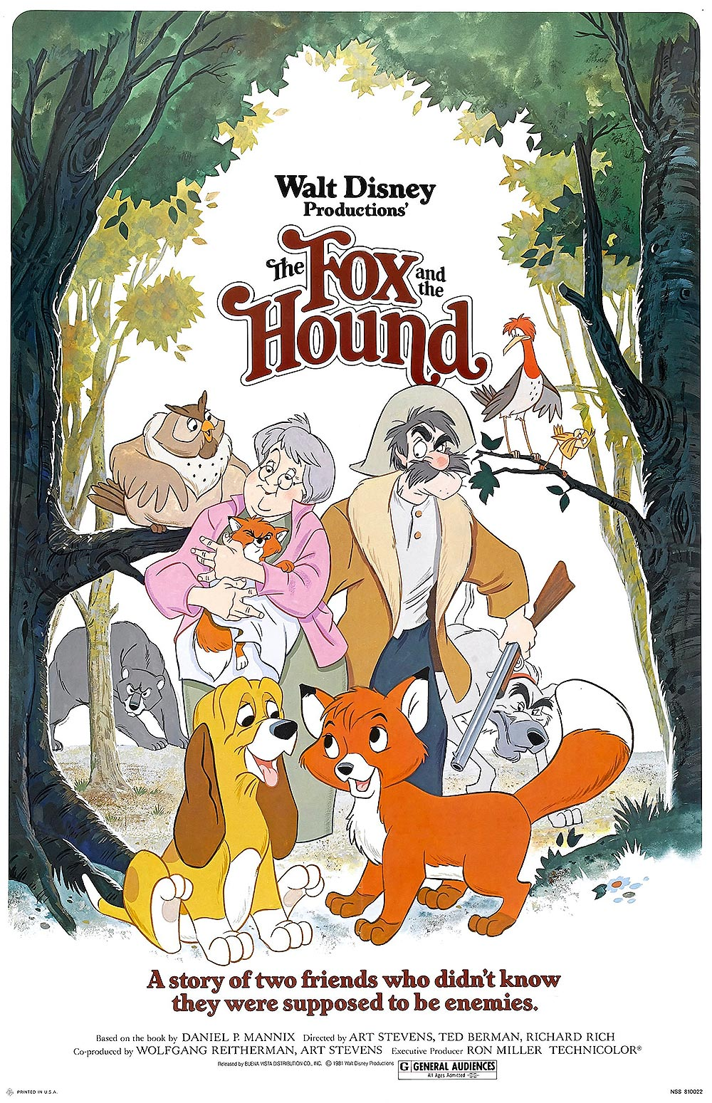 'The Fox And The Hound' Original Release Poster