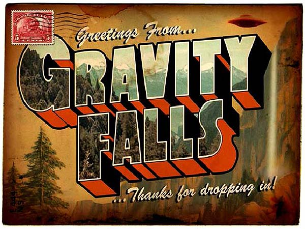 'Gravity Falls Television' Series Title Card