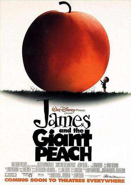 'James And The Giant Peach' Pre-release poster