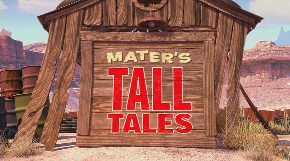 Time Travel Mater Mater's Tall Tales Logo