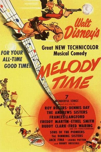'Melody Time' Original Release Poster