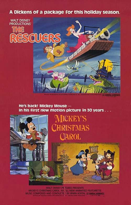 Mickey's Christmas Carol Original Release Poster