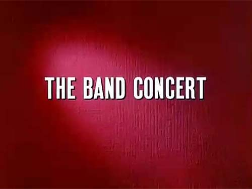 <i>The Band Concert</i> Title Card