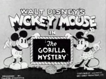 'The Gorilla Mystery' Title Card