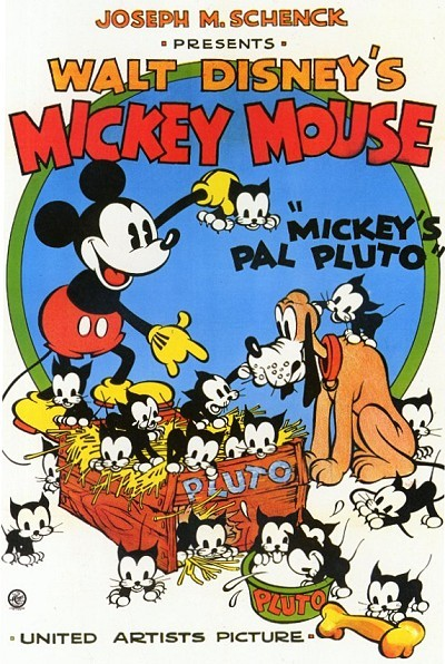 Mickey's Pal Pluto Original Release Poster