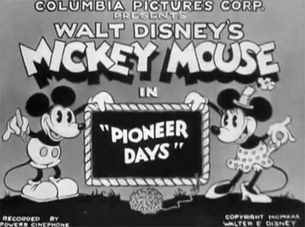 'Pioneer Days' Title Card (Recreated)