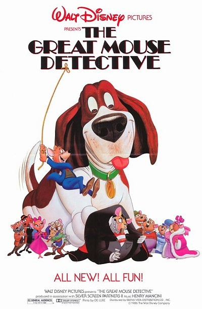 The Great Mouse Detective Original Release Poster (Style A)