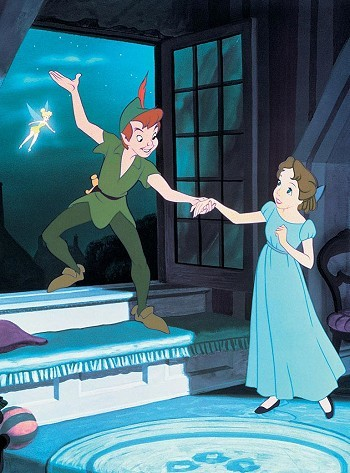 Tinker Bell, Peter Pan and Wendy