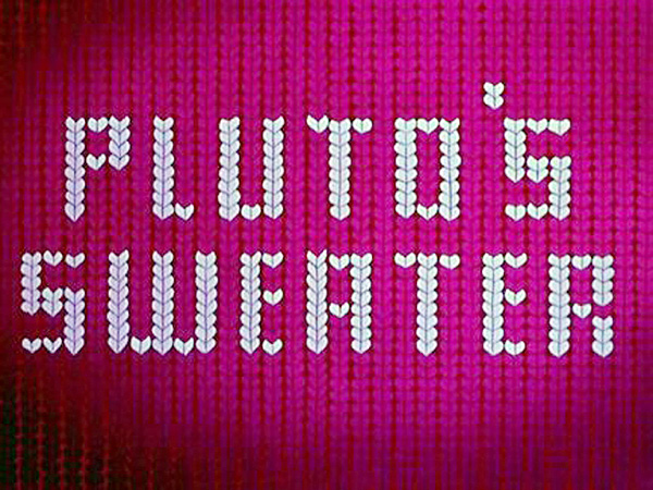 Pluto's Sweater Title Card . Series Title Image