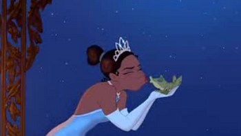 Princess Tiana Kisses Frog