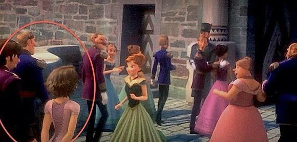 Rapunzel and Flynn Rider from Tangled Cameo