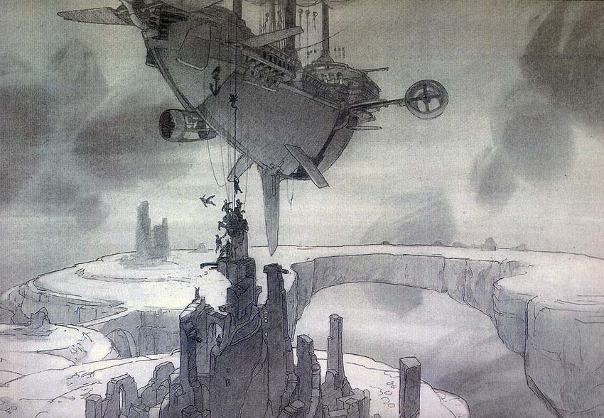 Treasure Planet 2 The Centurion over the Botany Bay Prison Asteroid