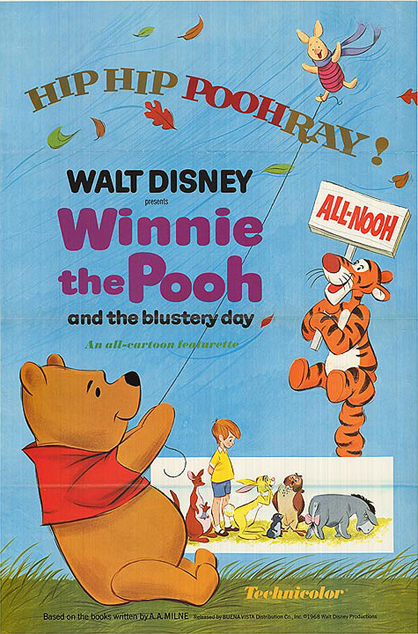 Winnie The Pooh And The Blustery Day Original Release Poster