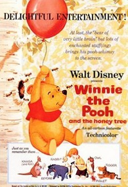 'Winnie The Pooh And The Honey Tree' Original Release Poster