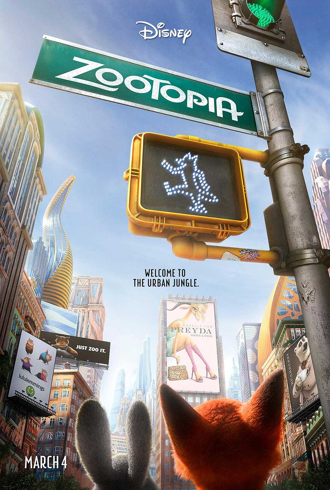 Zootopia Advance Poster
