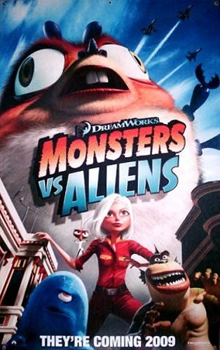 Monsters vs. Aliens Pre-Release Poster