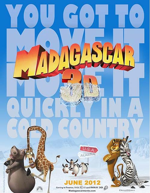 Madagascar 3: Europe's Most Wanted First Teaser Poster