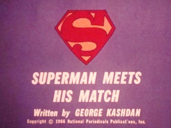 Superman Meets His Match Original Title Card