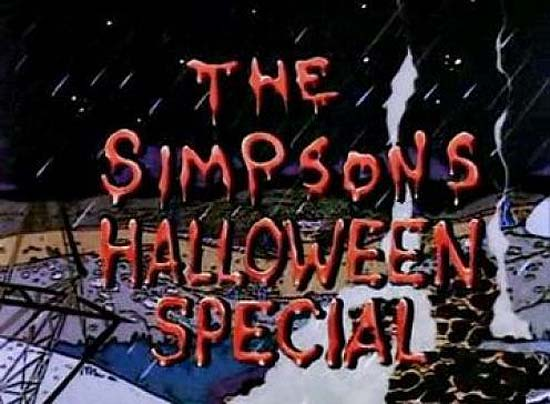 <i>The Simpsons Halloween Special Television Episode</i> Title Card