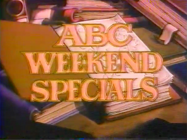 'Scruffy, Part Two' ABC Weekend Special Logo