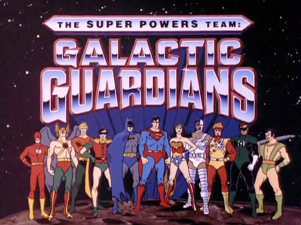 'The Super Powers Team: Galactic Guardians Television' Series Title Card