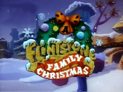 A Flintstone Family Christmas Title Card