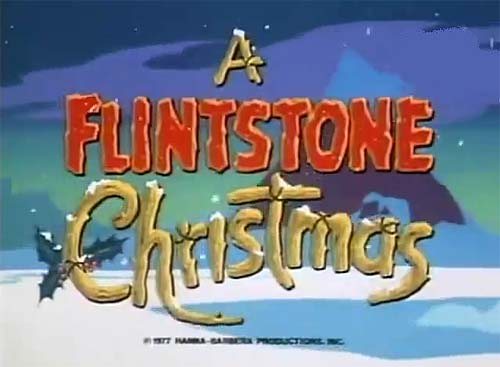 A Flintstone Christmas Title Card