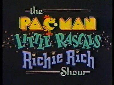The Pac-Man / Little Rascals / Richie Rich Show Television Series Title Card