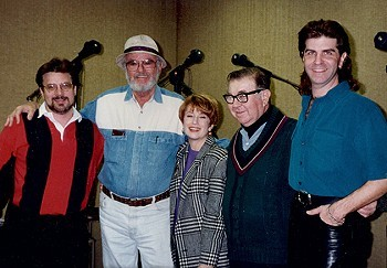 Russ Harris, Harvey Korman, Nancy Dussault, Marvin Kaplan, and (Jerry) Brian Reynolds