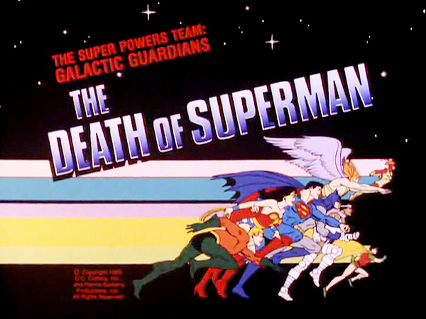 <i>The Death Of Superman Television Episode</i> Title Card