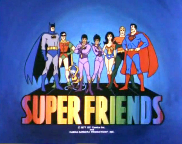 <i>The All-New Super Friends Hour Television</i> Series Title Card