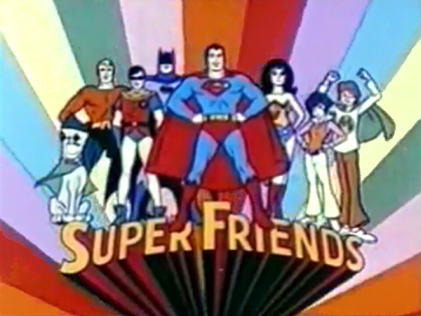 'Super Friends Television' Series Title Card