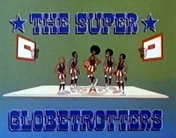 'The Super Globetrotters Television' Series Title Card