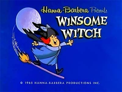Winsome Witch Television Series Title Card