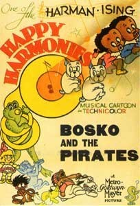 Little Ol' Bosko And The Pirates Re-release Poster