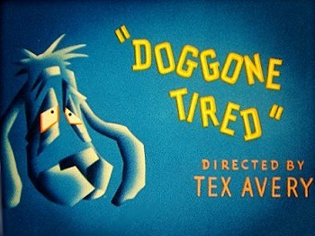 Doggone Tired Title Card