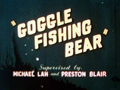 Goggle Fishing Bear Title Card
