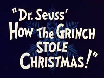 'How The Grinch Stole Christmas! Television Episode' Title Card