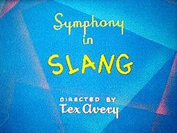 <i>Symphony In Slang</i> Title Card