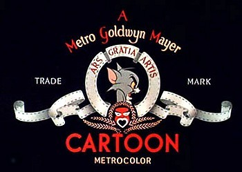 Fraidy Cat Tom & Jerry MGM Logo
